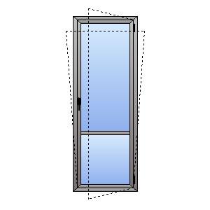 Porta finestra 1 anta e traverso atll for Porta finestra dimensioni