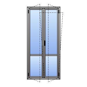 Porta finestra 2 ante e traverso atll for Porta finestra dimensioni