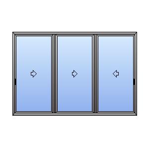 Porta finestra 3 ante binario 3 vie atll for Finestra 3 ante scorrevoli