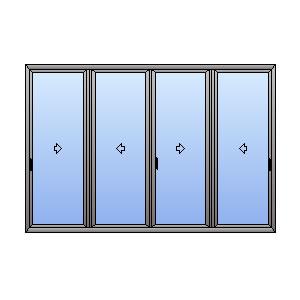 Porta Scorrevole 4 Ante.Porta Finestra 4 Ante Atll